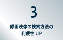 3録画映像の検索方法の利便性UP