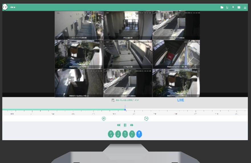 クラウド管理下のカメラの分割ライブ視聴が可能
